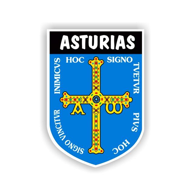 PEGATINA ESCUDO ASTURIAS 2 8X5CM 800 502