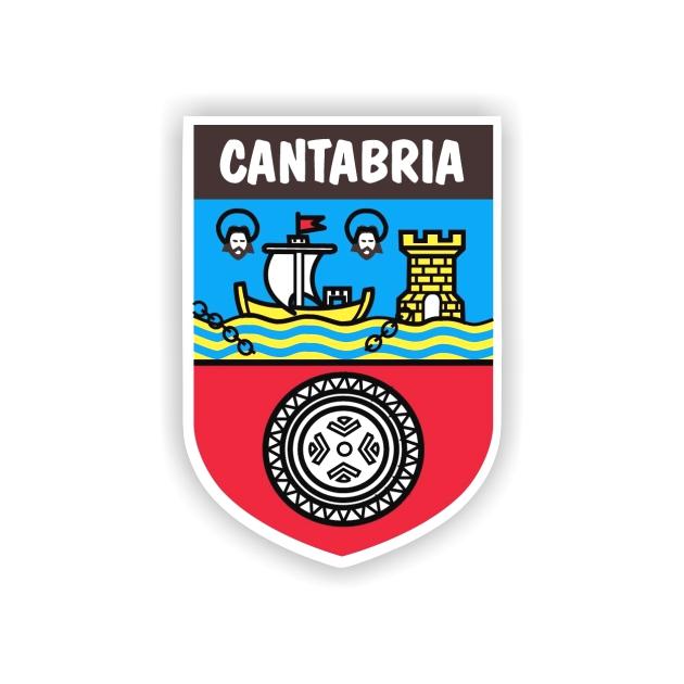PEGATINA ESCUDO CANTABRIA 7X5 CM 800 525