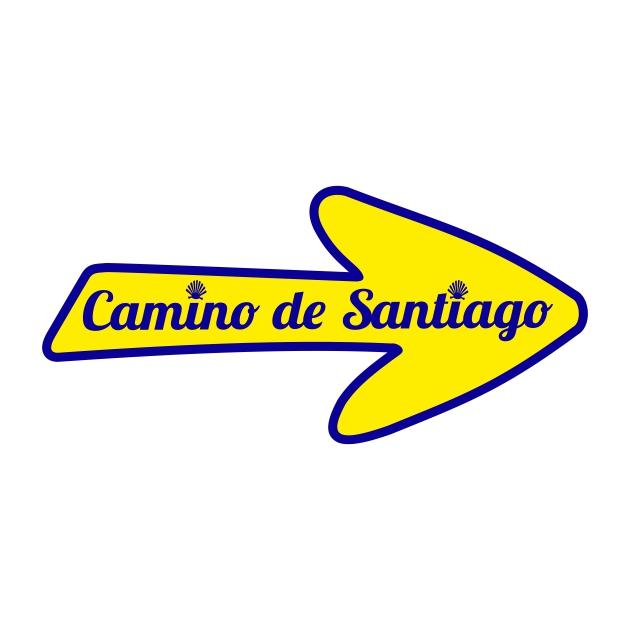 PEGATINA FLECHA 10X5 CM CAMINO DE SANTIAGO 800 1040