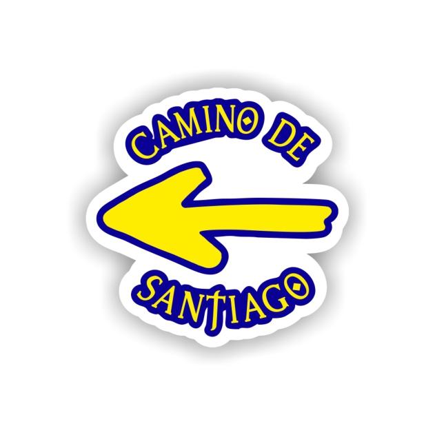 PEGATINA FLECHA TEXTO 7X7 CM CAMINO DE SANTIAGO 800 03