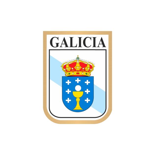 PEGATINA GALICIA GALLETA ESCUDO 7X5 CM 800 1000