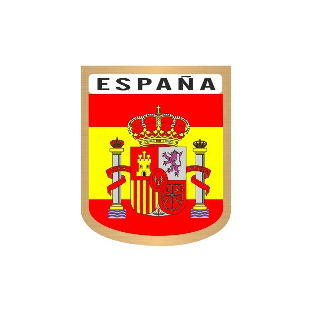 PEGATINA GALLETA ESPANA ESCUDO 6X4 CM 801 3007