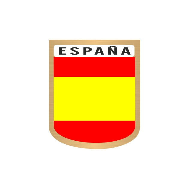 PEGATINA GALLETA ESPANA LISA 6X4 CM 801 3009