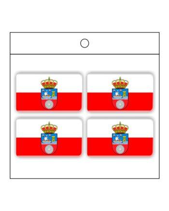 PEGATINA GOTA DE RESINA RECTANGULO CANTABRIA 4 UND 30 X 18 MM 996 001