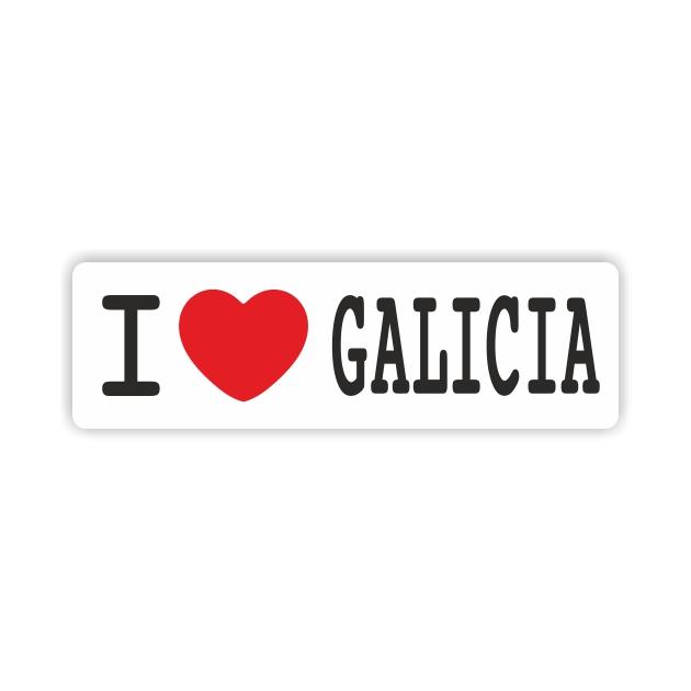 PEGATINA I LOVE GALICIA 12X4 CM 800 1012