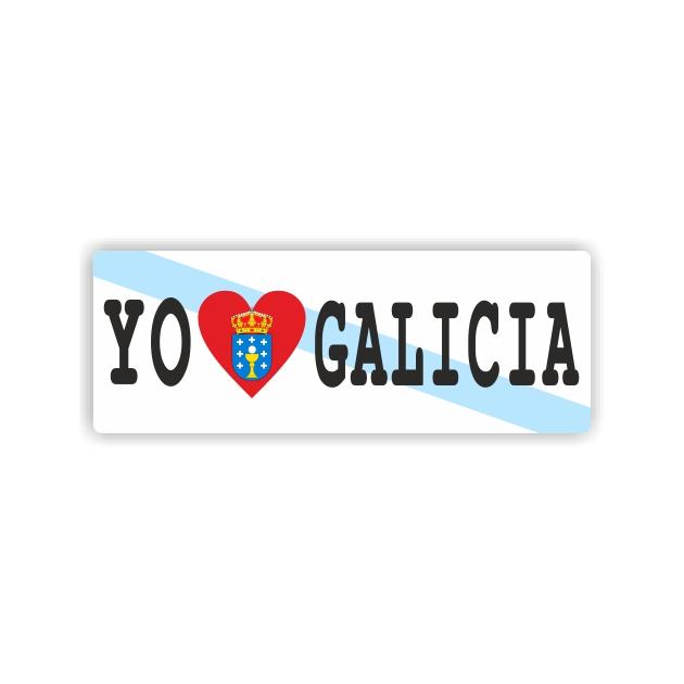 PEGATINA I LOVE GALICIA ESCUDO 12X4 CM 800 1013