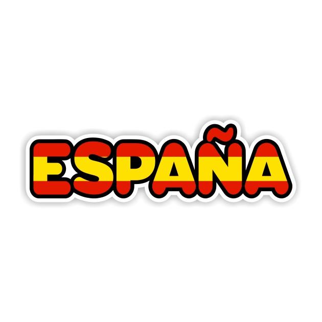 PEGATINA LETRAS ESPANA 16X5 CM 12X4 CM 801 3020