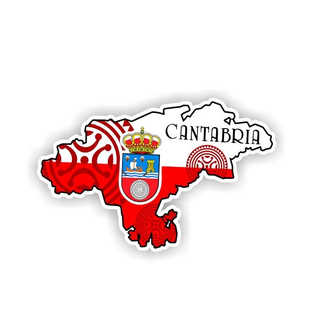 PEGATINA MAPA CANTABRIA 6X4 CM 800 516