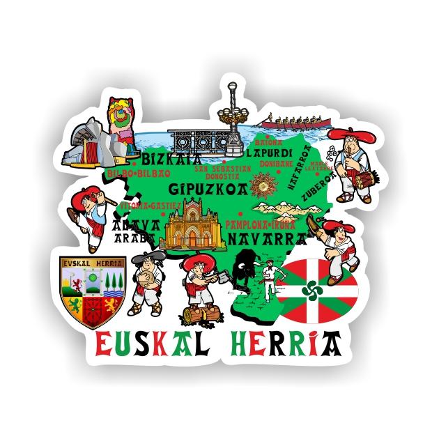 PEGATINA MAPA EUSKAL HERRIA DIBUJO 9X8 CM 800 4057