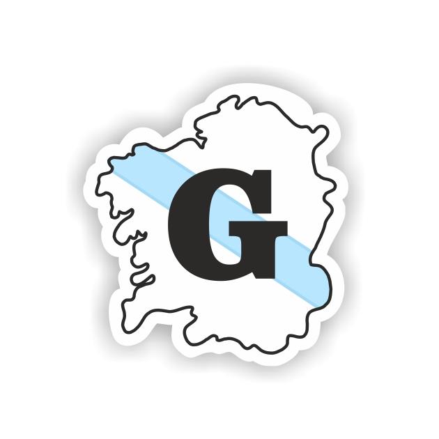 PEGATINA MAPA GALICIA G 8X7 CM 800 1008
