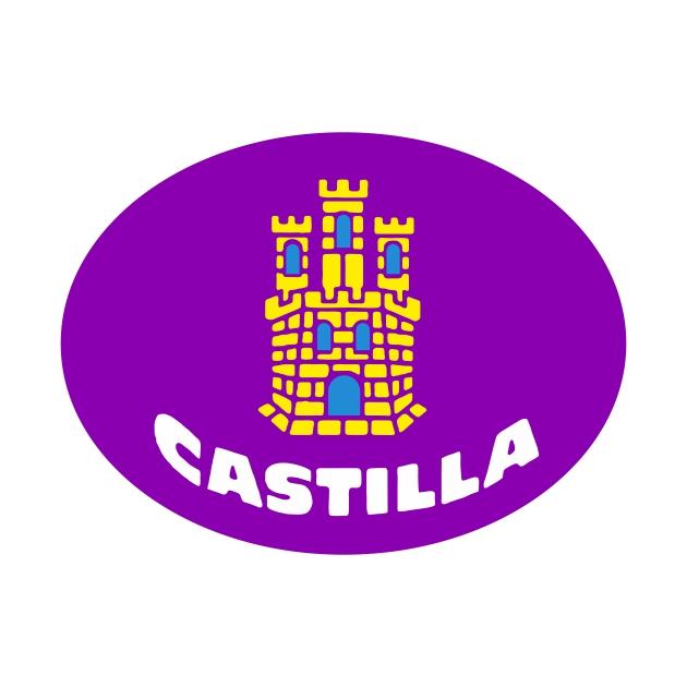 PEGATINA OVAL CASTILLA ESCUDO 8X6 CM 6X4 CM 4013 14 1