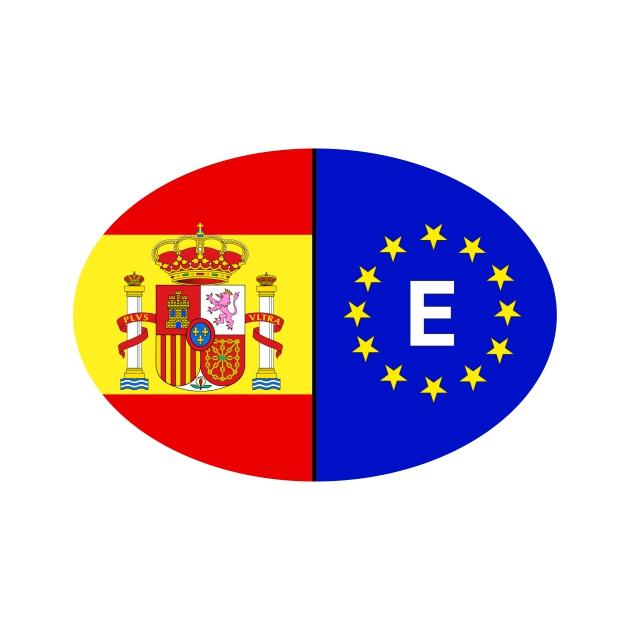 PEGATINA OVAL ESPANA ESCUDO EUROPA 11X7X5 CM 8X55 CM 6X4 CM 801 2013