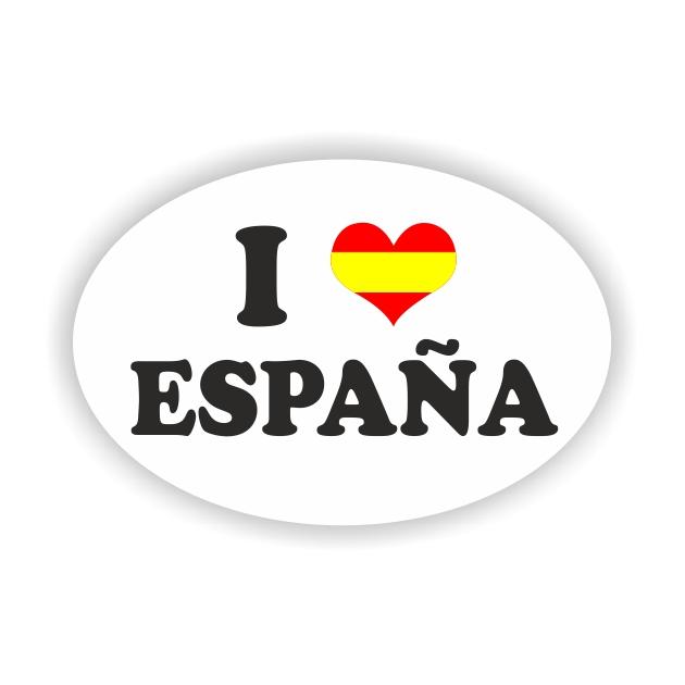 PEGATINA OVAL ESPANA I LOVE 11X7X5 CM 8X55 CM 6X4 CM 801 2006