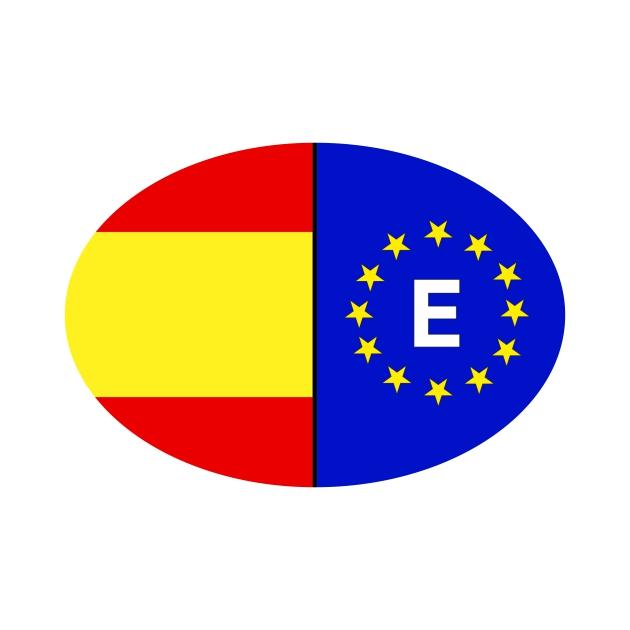 PEGATINA OVAL ESPANA LISA EUROPA 11X7X5 CM 8X55 CM 6X4 CM 801 2017