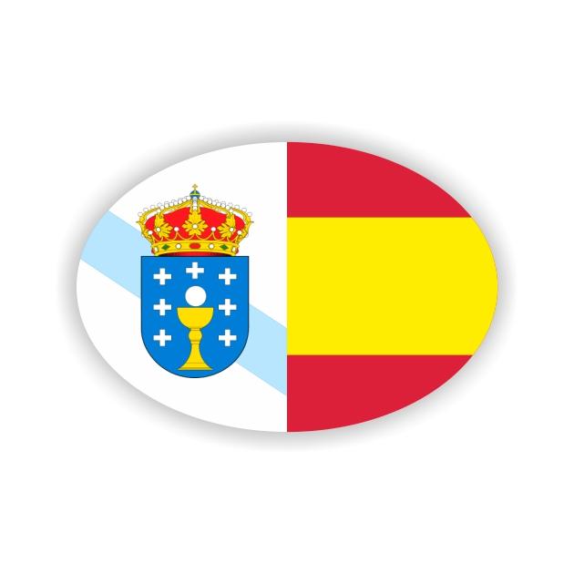 PEGATINA OVAL GALICIA ESPANA 8X55 CM 800 1019