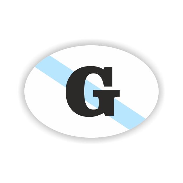 PEGATINA OVAL GALICIA G 8X55 CM 800 1006