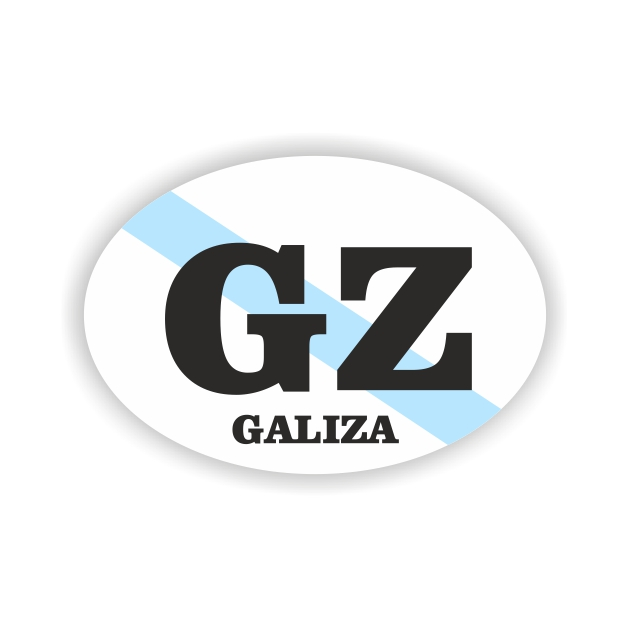 PEGATINA OVAL GALICIA GZ 8X55 CM 800 1004