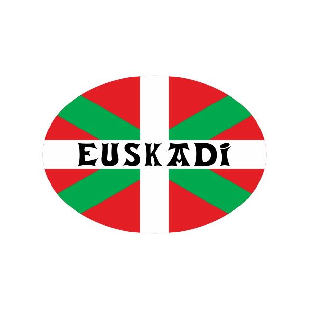 PEGATINA OVAL IKURRINA EUSKADI 8X6 CM 800 4058