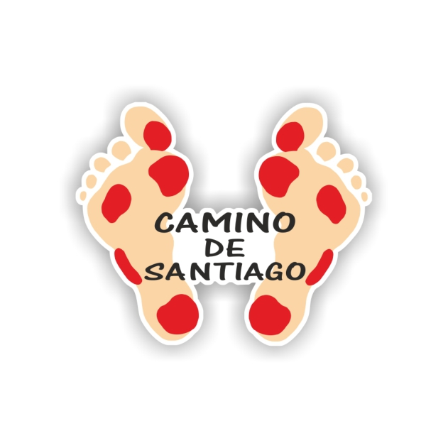 PEGATINA PIES 7X7 CM CAMINO DE SANTIAGO 800 04 1