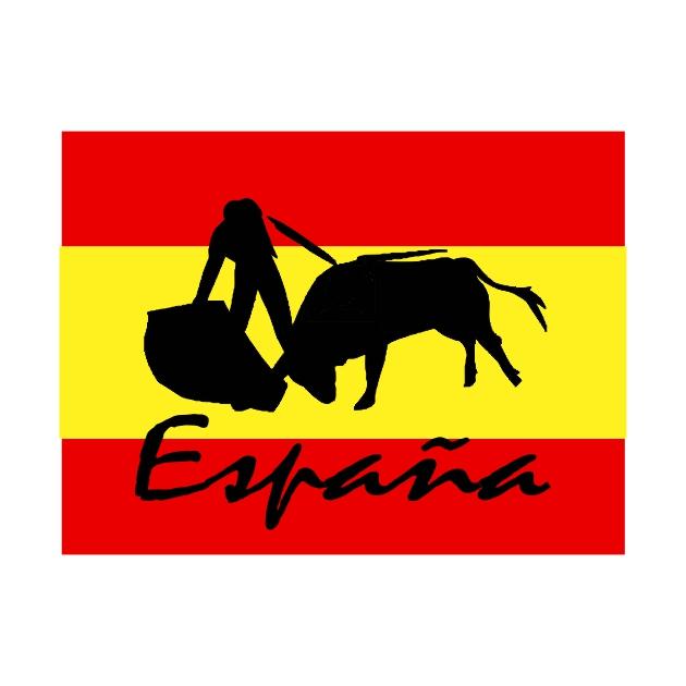 PEGATINA RECTANGULAR ESPANA TORERO 11X7X5 CM 75X5 CM 55X4 CM 801 2033