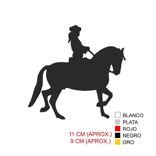 PEGATINA VINILO CABALLO 7015 1