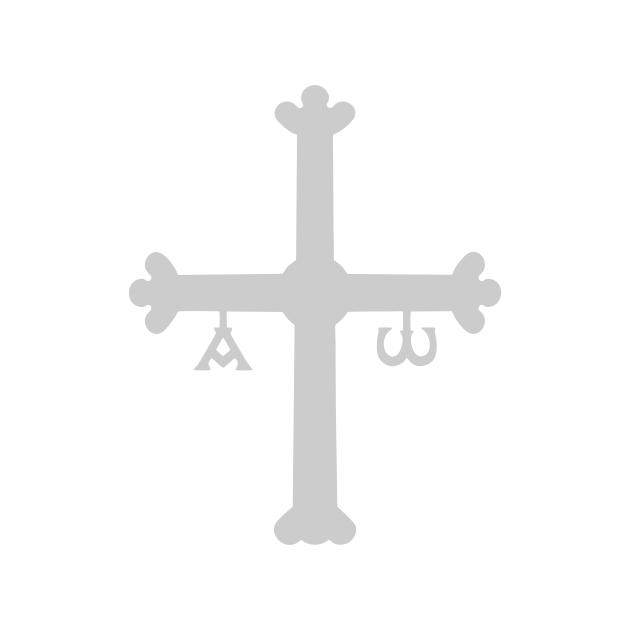 PEGATINA VINILO CRUZ PLATA 9CM 800 603