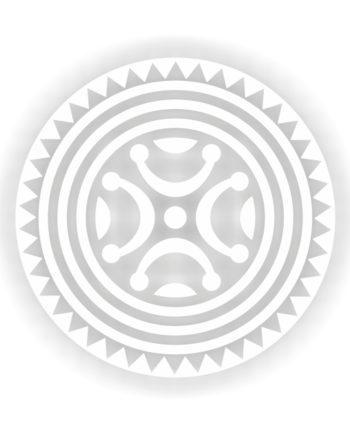 PEGATINA VINILO ESTELA DE BARROS BLANCO 11 CM 9 CM 800 4081