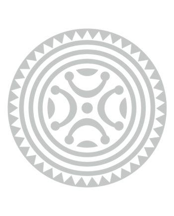PEGATINA VINILO ESTELA DE BARROS PLATA 11 CM 9 CM 800 4083