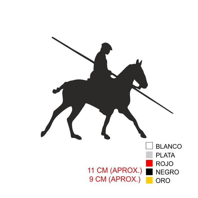 PEGATINA VINILO REJONEADOR 7016 1