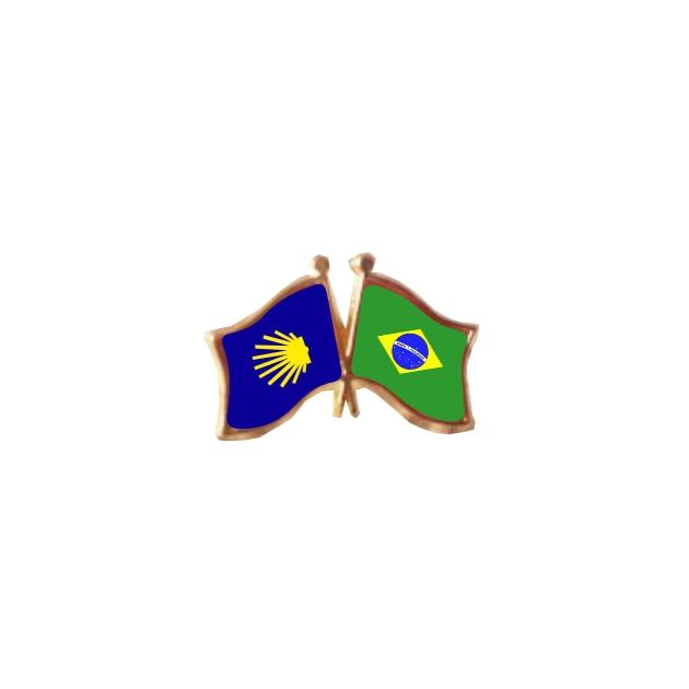 PIN 2 BANDERAS BRASILCAMINO DE SANTIAGO 401 369