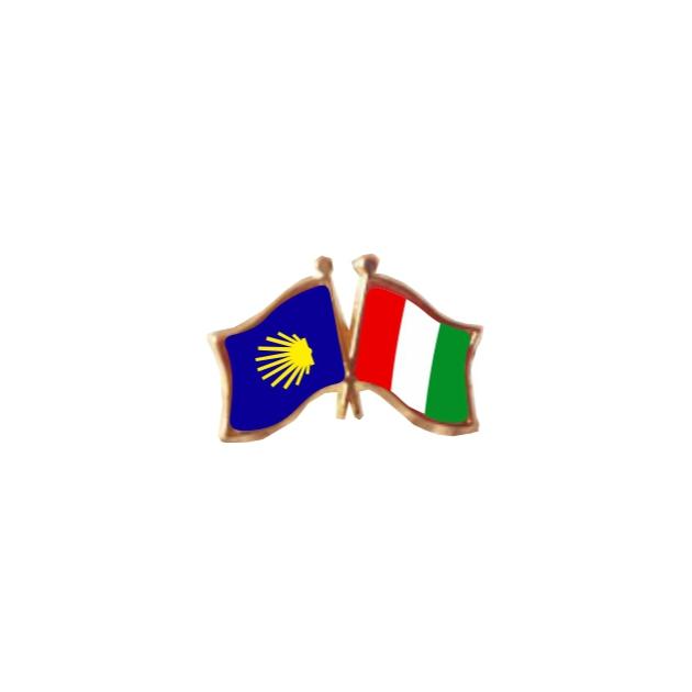 PIN 2 BANDERAS ITALIA CAMINO DE SANTIAGO 401 367