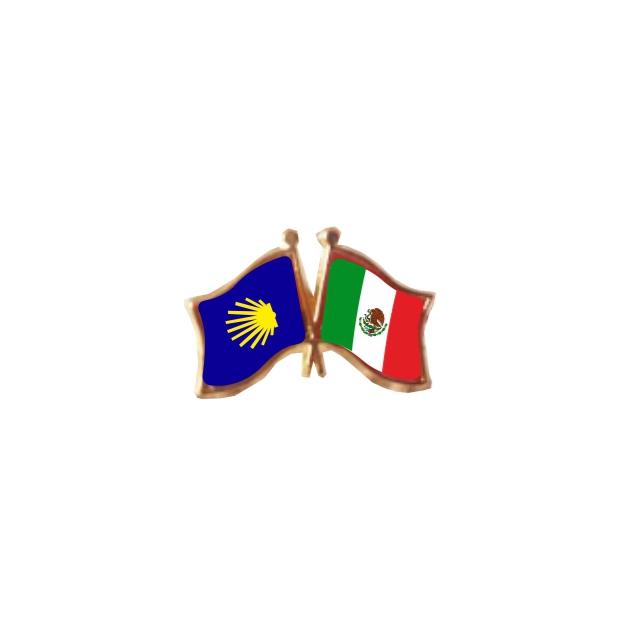PIN 2 BANDERAS MEXICOCAMINO DE SANTIAGO 401 370