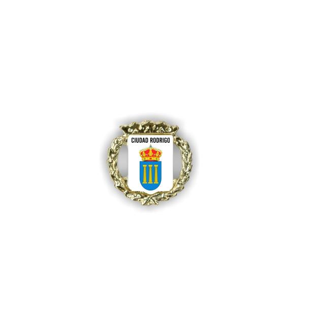PIN DORADO ESCUDO LAURELES 400 03 1 FOTO 1