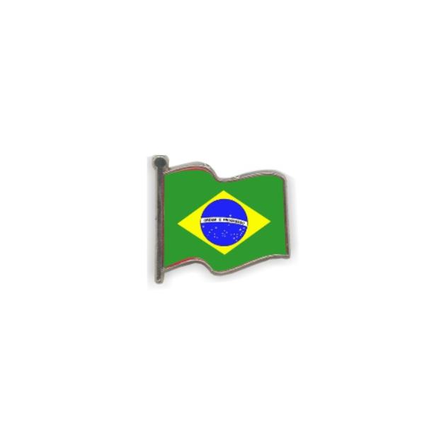 PIN GOTA RESINA BRASIL BANDERA ONDEANTE SOUVENIR 401 435
