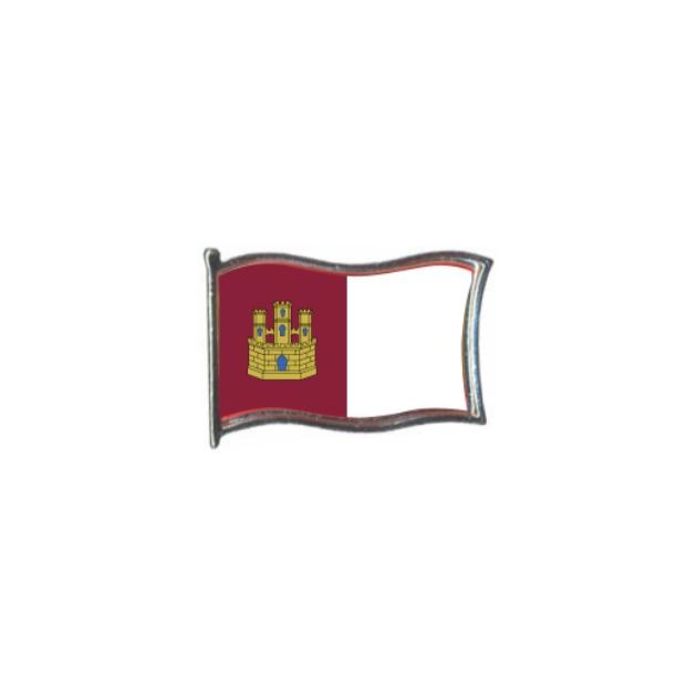 PIN GOTA RESINA CASTILLA LA MANCHA BANDERA GR ONDEANTE SOUVENIR 401 466