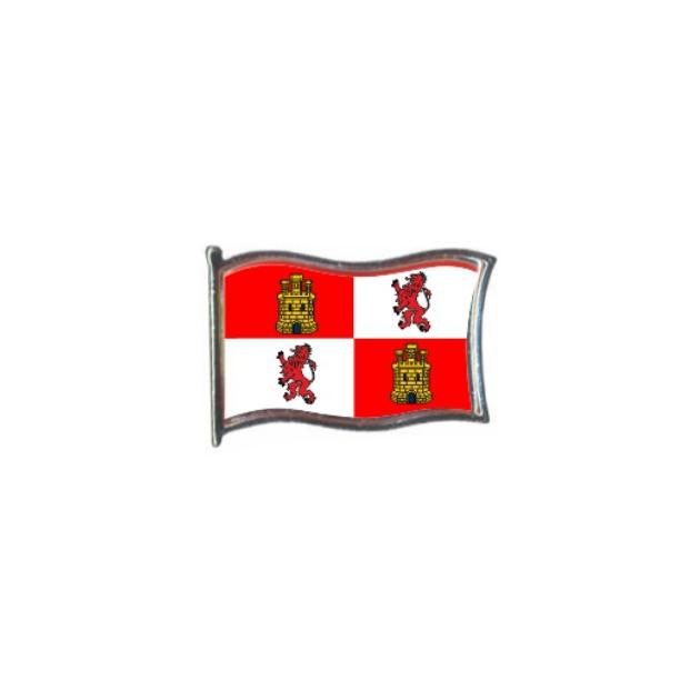 PIN GOTA RESINA CASTILLA Y LEON BANDERA GR ONDEANTE SOUVENIR 401 467