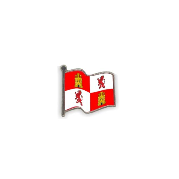 PIN GOTA RESINA CASTILLA Y LEON BANDERA ONDEANTE SOUVENIR 401 417