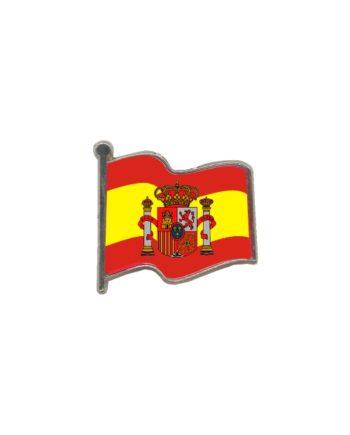 PIN GOTA RESINA ESPANA BANDERA CON ESCUDO ONDEANTE SOUVENIR 401