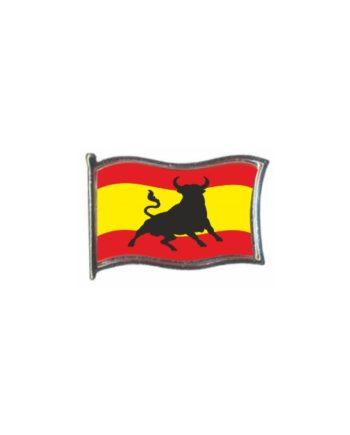 PIN GOTA RESINA ESPANA BANDERA GR TORO ONDEANTE SOUVENIR 452