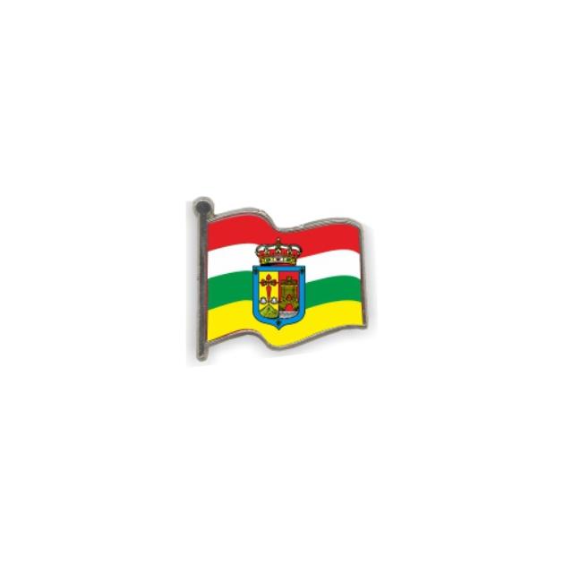 PIN GOTA RESINA LA RIOJA BANDERA ONDEANTE SOUVENIR 401 422