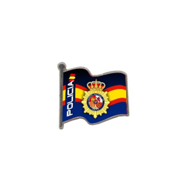 PIN GOTA RESINA POLICIA BANDERA ONDEANTE SOUVENIR 401