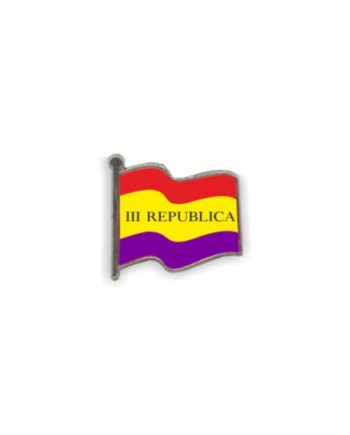 PIN GOTA RESINA REPUBLICA BANDERA III REPUBLICA ONDEANTE SOUVENIR 401 405