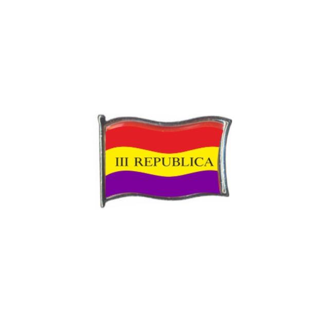 PIN GOTA RESINA REPUBLICA III BANDERA GR ONDEANTE SOUVENIR 401 455