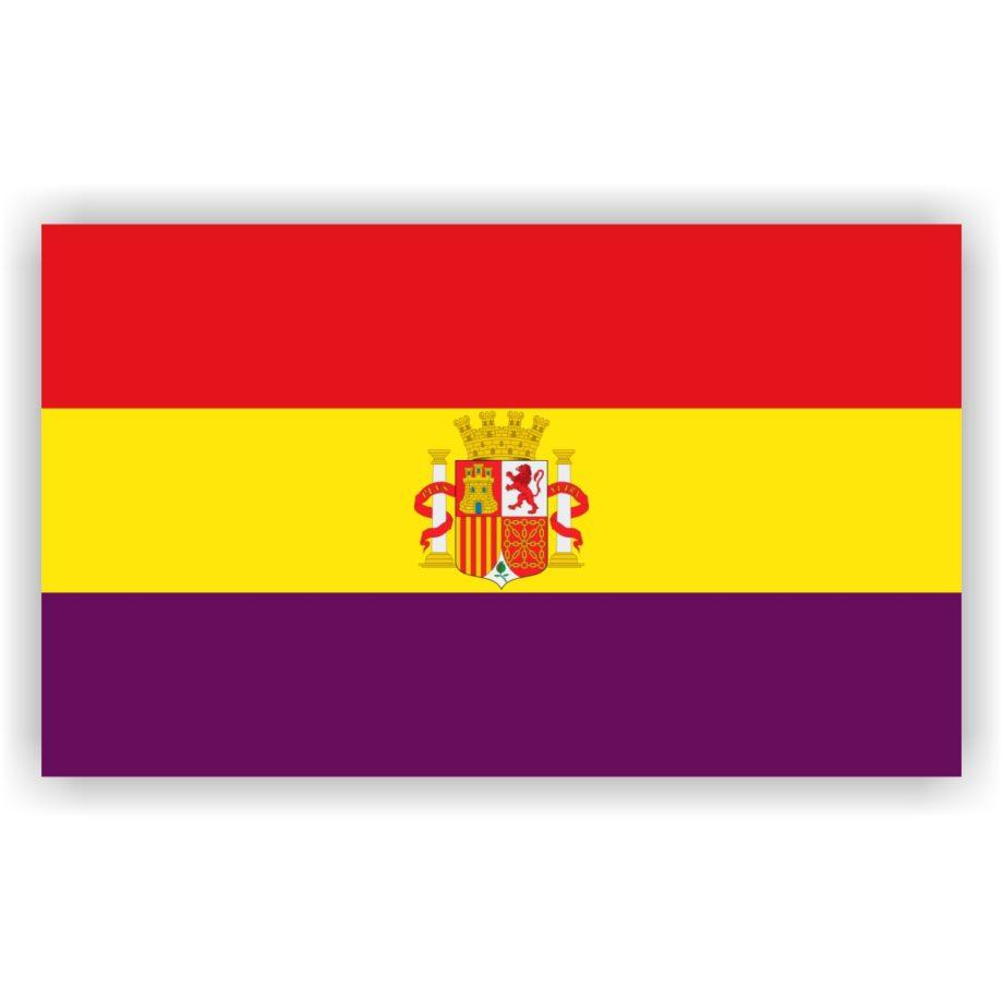 REPUBLICA ESPANOLA CON ESCUDO BANDERA