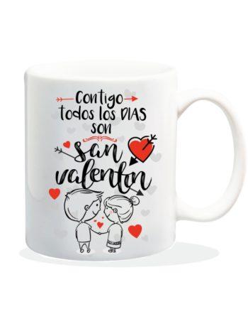 TAZA CONTIGO TODOS LOS DIAS SON SAN VALENTIN 840 84